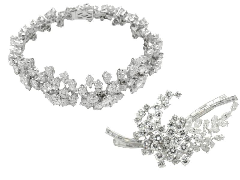 Parure 35 carati diamanti Massoni