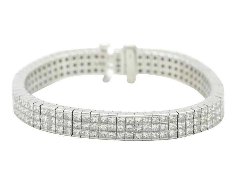 Bracciale diamanti carrè
