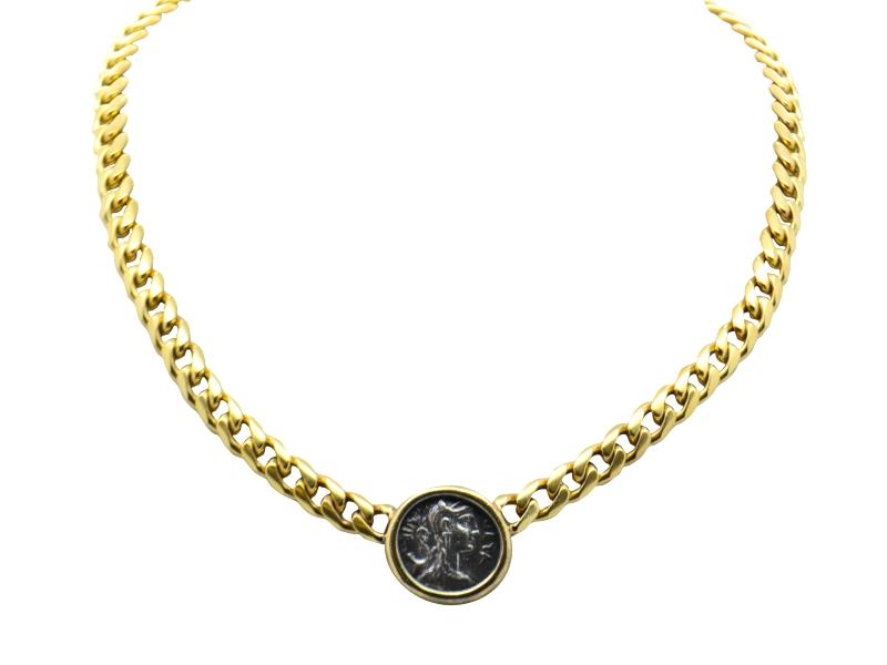 Collana moneta Bulgari anni \'80