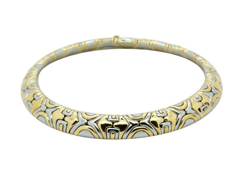 Collana acciaio e oro Bulgari