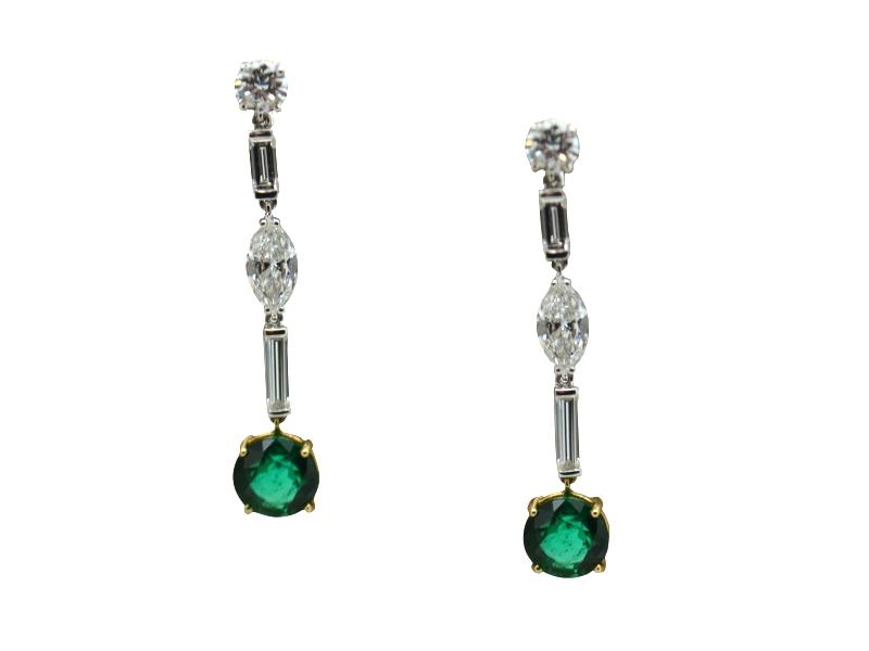 Orecchini smeraldi e diamanti Massoni