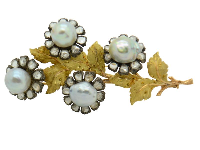 Spilla perle Buccellati