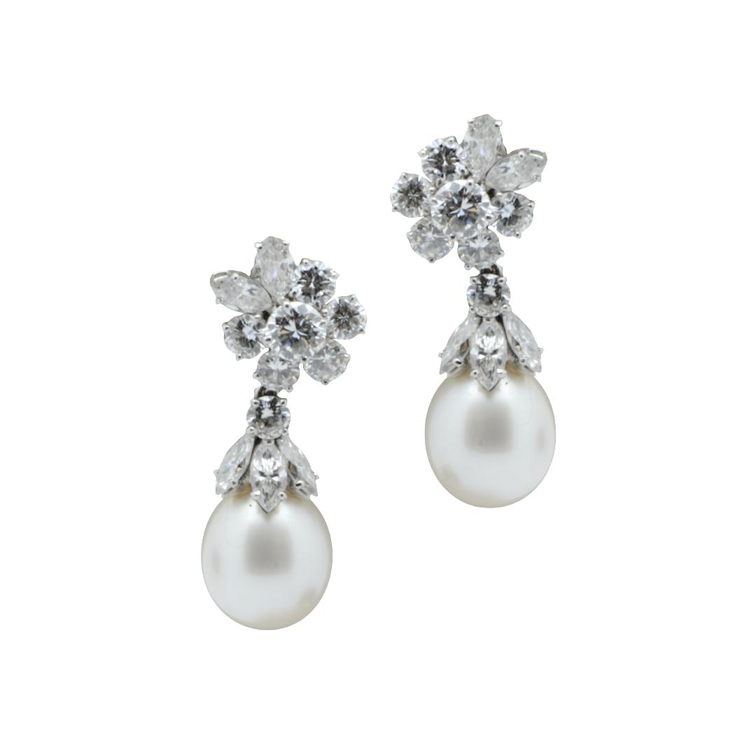 Orecchini perle e diamanti Bulgari