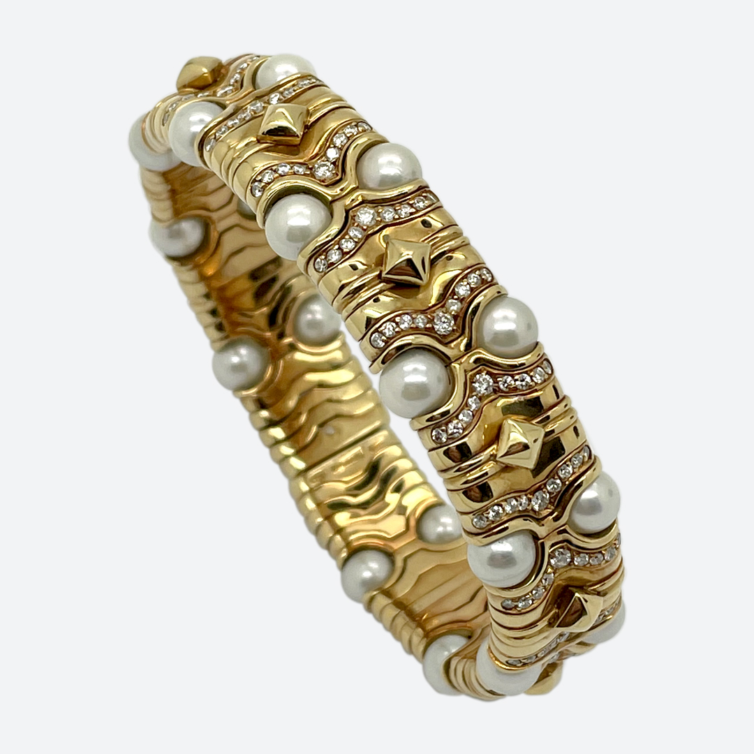 Bracciale perle Bulgari