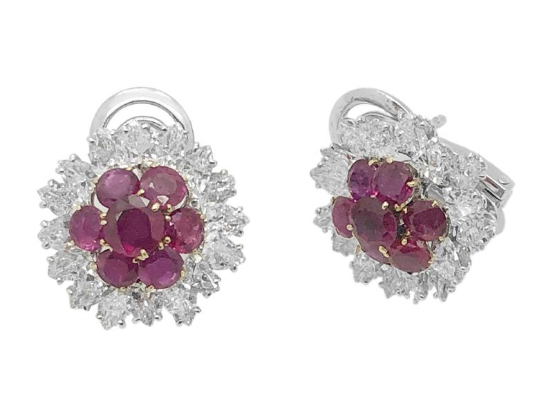 Orecchini rubini e diamanti Bulgari