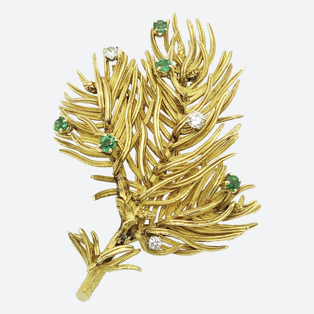Spilla oro e brillanti Hermes