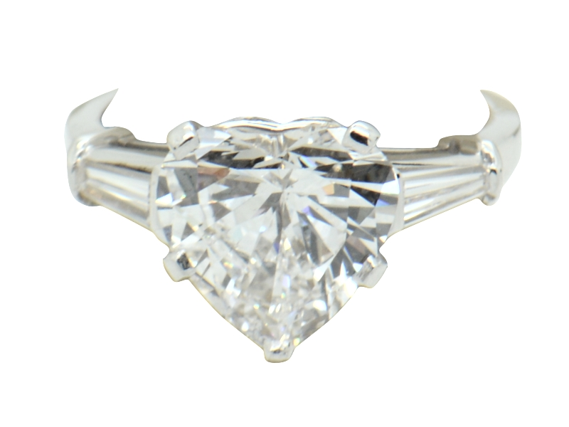 Anello diamante cuore Bulgari