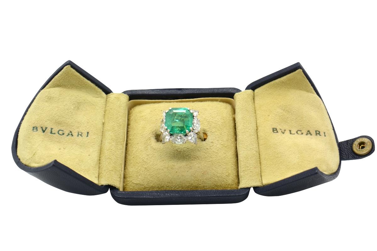 Anello smeraldo Bulgari anni \'50