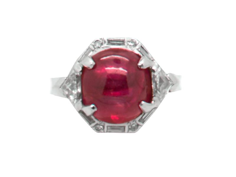 Anello rubino Cartier anni \'40