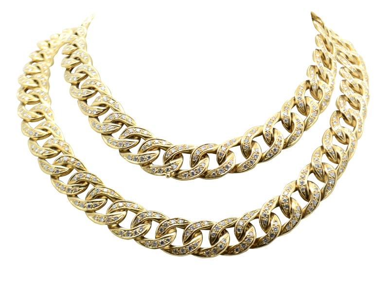 Collana lunga oro e brillanti