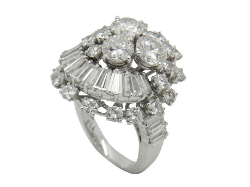 Anello diamanti anni \'60