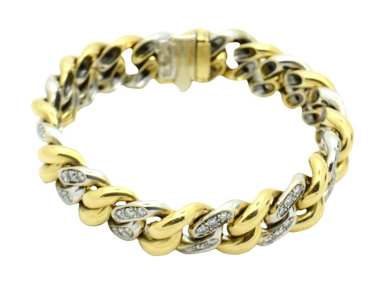 Bracciale oro e brillanti Pomellato